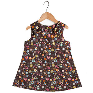 Blooming Lovely Chocolate Dress - Small Potatoes - 1