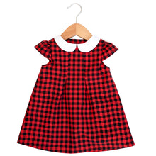 Buffalo Plaid Peter Pan Collar Dress