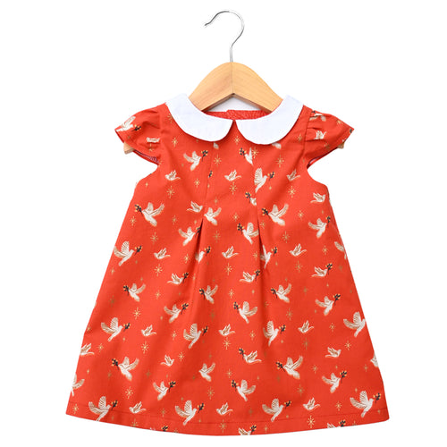 Candlelight Doves Peter Pan Collar Dress