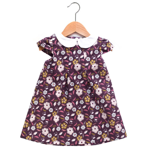Captivate Plum Peter Pan Collar Dress