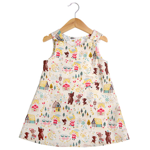 Goldilocks Cream A-Line Dress