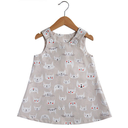 Happy Kitty Dress - Small Potatoes - 1