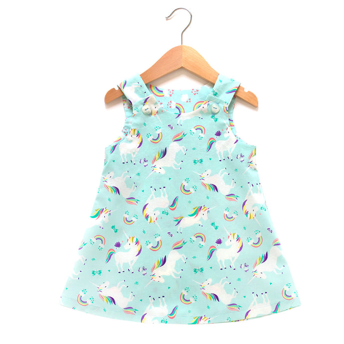 I Heart Unicorns Blue Dress
