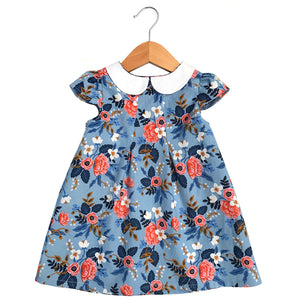 Les Fleurs Birch Peter Pan Collar Dress