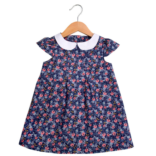 Les Fleurs Rosa Peter Pan Collar Dress