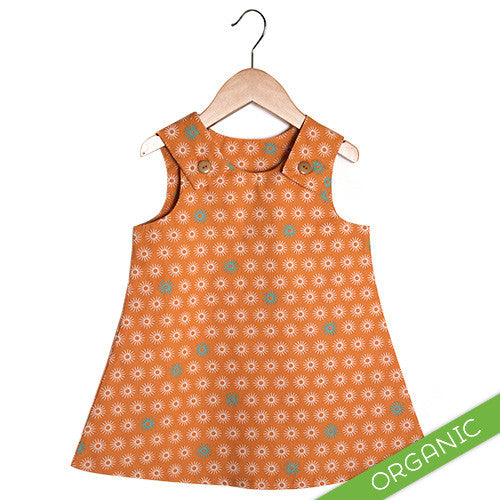 Starbust Orange Dress - ORGANIC - Small Potatoes - 1