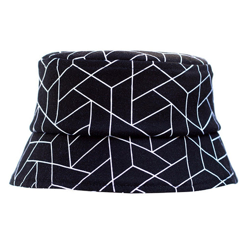 Black Geometric Hat