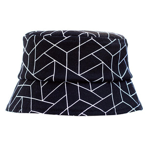 Black Geometric Hat - Ready to Ship