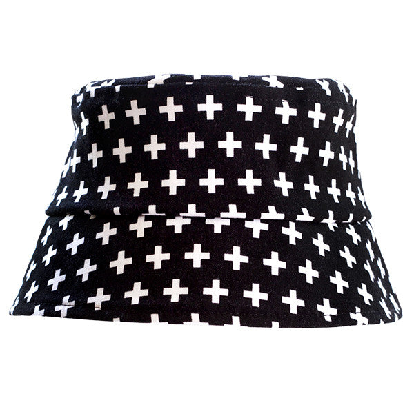 Black Swiss Cross Hat - Small Potatoes
