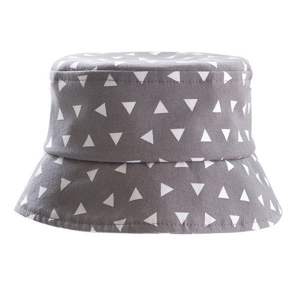 Grey Triangles Hat - Small Potatoes