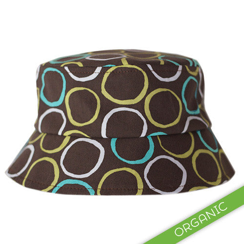 Mod Circles Blue Hat - ORGANIC - Small Potatoes