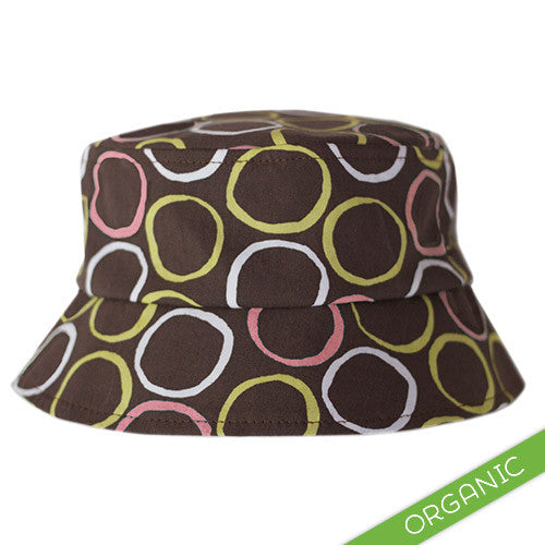 Mod Circles Pink Hat - ORGANIC - Small Potatoes