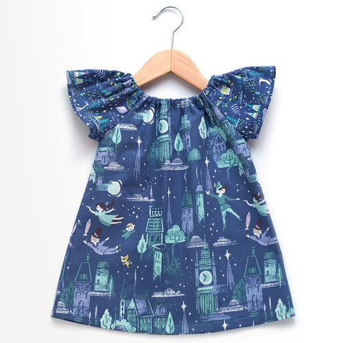 Neverland Flight Flutter Sleeve Dress