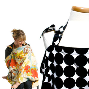 Black Swiss Cross Nursing Cover - Small Potatoes - 2
