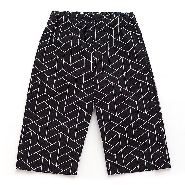 Black Geometric Pants