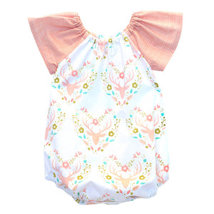 Antler Meadow Coral Bubble Romper