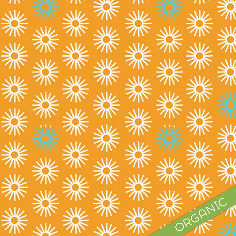 Starburst Orange Nursing Cover - ORGANIC - Small Potatoes - 1