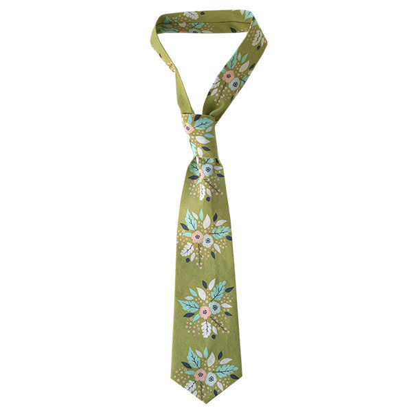 Antler Bouquet Green Tie