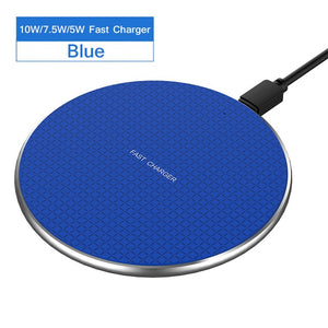 ROCK Wireless Charger For iPhone 11 X XS 8 Xiaomi mi9 cargador inalambrico QI Wireless Fast Charge Pad chargeur sans fil