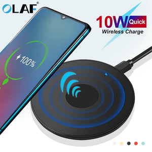 Olaf 10W Qi Wireless Charger USB Micro USB Fast Charging Pad for iPhone Xs XR X 8 11 Samsung S10 S9 Xiaomi Mi 9 Charger sans fil
