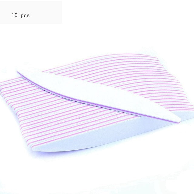 50 Pcs Professional Nail File Buffer Block white Willow leaf Style For Nail art UV Gel Varnish File Sandpaper Manicure tools Fil