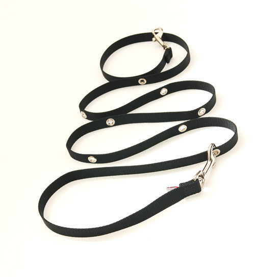 SnapLeash | Black | 6ft Length x 5/8in Wide