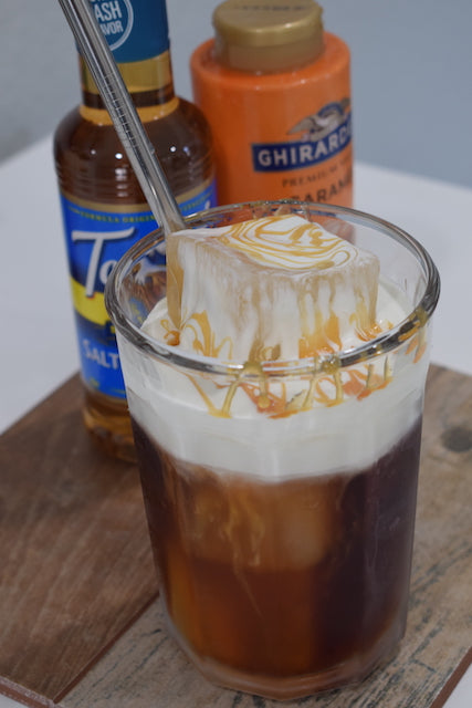 Intrepid Traveler Coffee Company salted cold foam cold brew