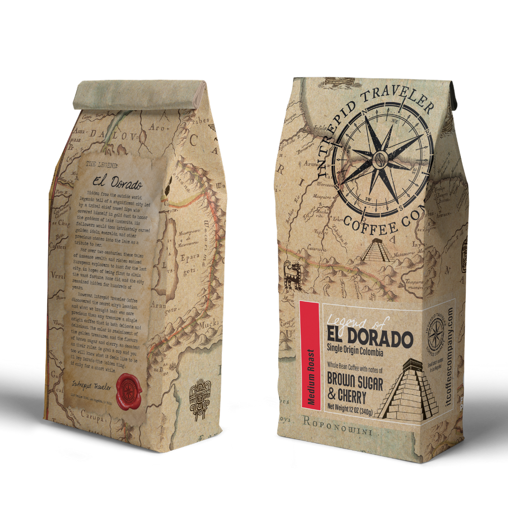 Intrepid Traveler Coffee - Whole Bean Coffee 12 oz bag. Direct trade and fresh roasted this is a medium roast single origin coffee from Buenos Aires.