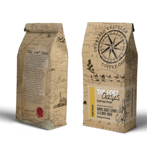 IntrepidTravelerCoffeeRoaster Whole Bean Coffee 12 oz Whole Bean Lost Oasis- Light Roast