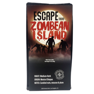 IntrepidTravelerCoffeeRoaster Whole Bean Coffee Escape From Zombean Island - Medium/Dark Roast