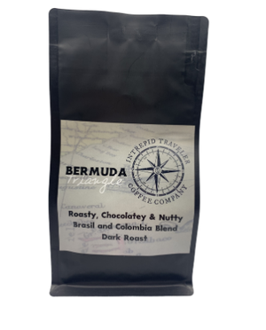 Load image into Gallery viewer, IntrepidTravelerCoffeeRoaster Whole Bean Coffee Sample (4oz Whole Bean) (4oz Sample) Bermuda Triangle- Dark Roast