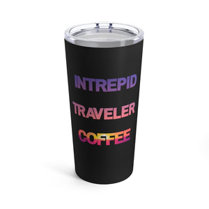 Load image into Gallery viewer, Printify Mug 20oz Intrepid Traveler Coffee - Red Sky - Tumbler 20oz