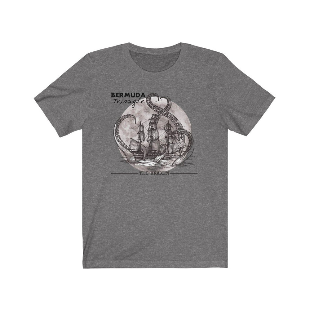 Printify T-Shirt Deep Heather / L Bermuda Triangle - Kraken Attacks-  Unisex (6 Styles)