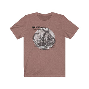 Printify T-Shirt Heather Mauve / XS Bermuda Triangle - Kraken Attacks-  Unisex (6 Styles)