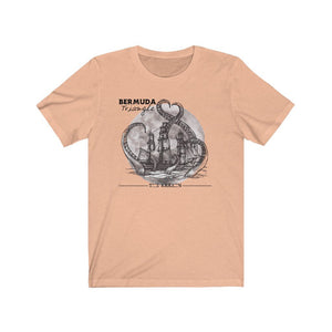 Printify T-Shirt Heather Peach / XS Bermuda Triangle - Kraken Attacks-  Unisex (6 Styles)