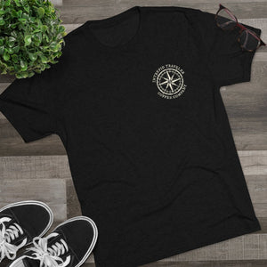 Load image into Gallery viewer, Printify T-Shirt Intrepid Traveler Coffee - Fearless - Men's Tri-Blend Crew Tee