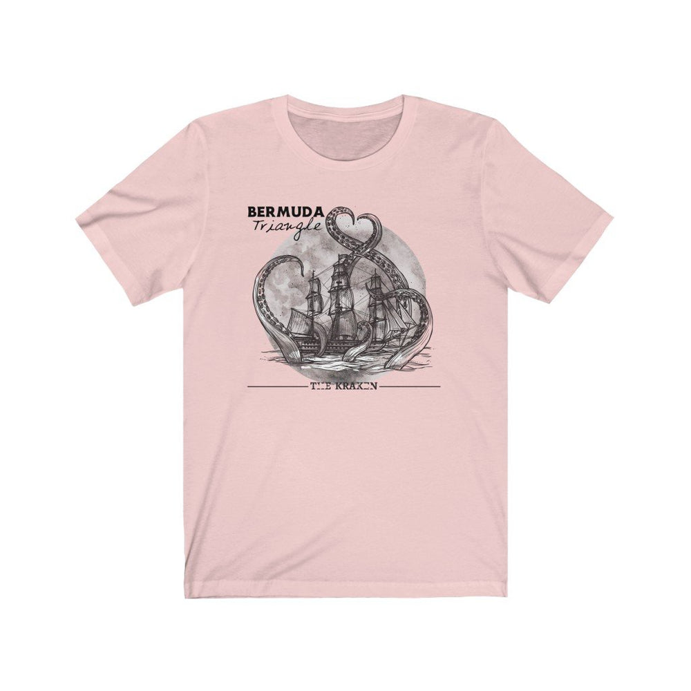 Printify T-Shirt Soft Pink / XS Bermuda Triangle - Kraken Attacks-  Unisex (6 Styles)