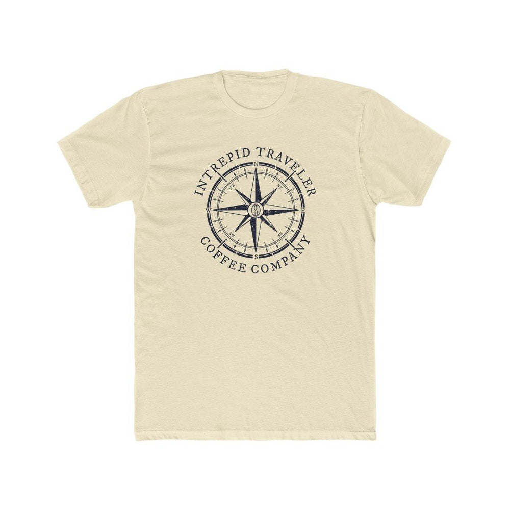 Printify T-Shirt Solid Natural / L Intrepid Traveler Coffee -  - Unisex Jersey Short Sleeve Tee
