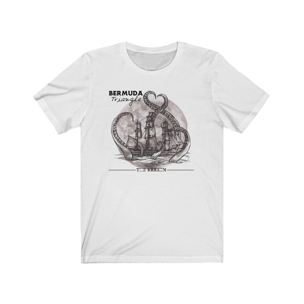 Printify T-Shirt White / S Bermuda Triangle - Kraken Attacks-  Unisex (6 Styles)