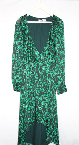 Ali & Jay Green Print Dress/ Size XL