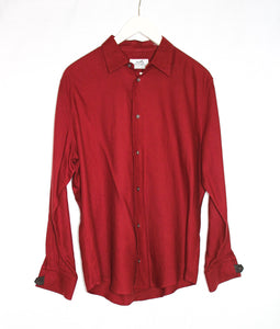 Hermes Red Button Up/ Size 16 41 collar