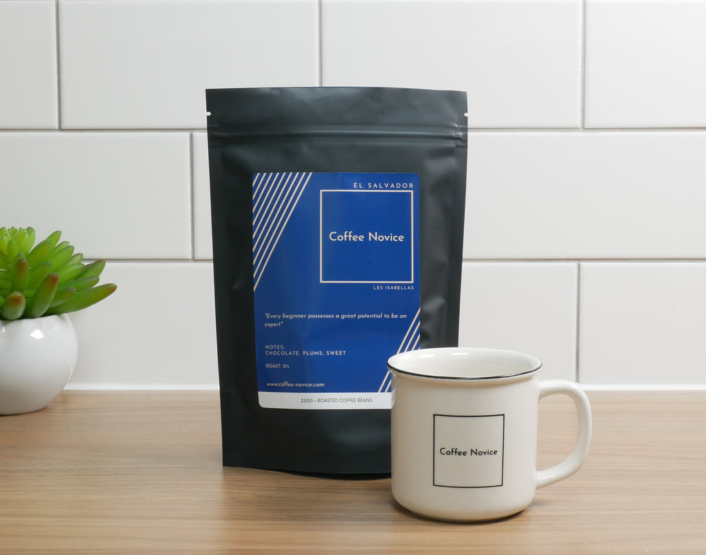 Coffee Novice speciality Blend coffee and cup package