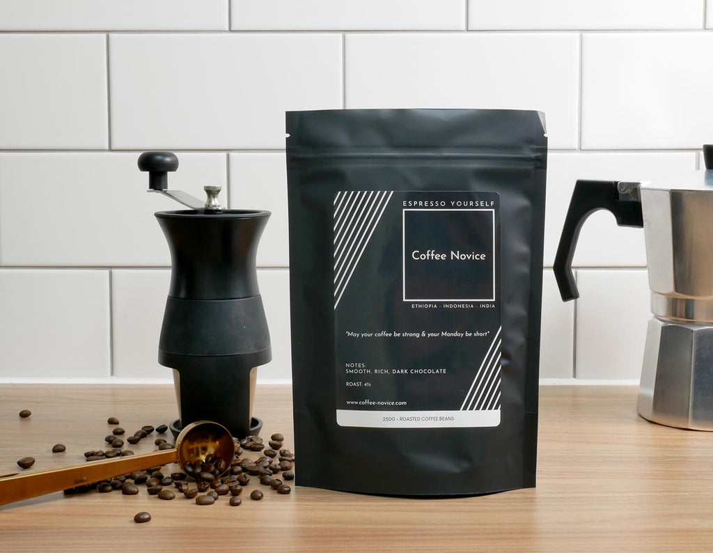 Coffee Novice speciality coffee blend espresso yourself