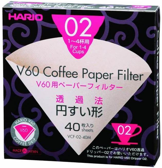Coffee Novice coffee accessories hario V60 filer papers size 2 pack of 40