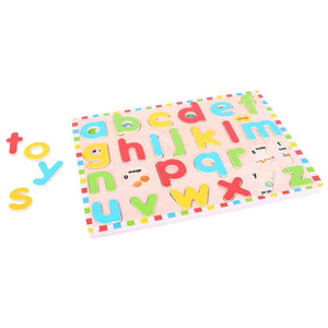 ABC Lowercase Wooden Inset Puzzle by BIGJIGS - ImagiDo!