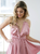 Slinky Silk Nighty with Big Floral Bust Feature