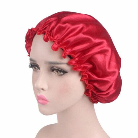 Bonnet de douche satin