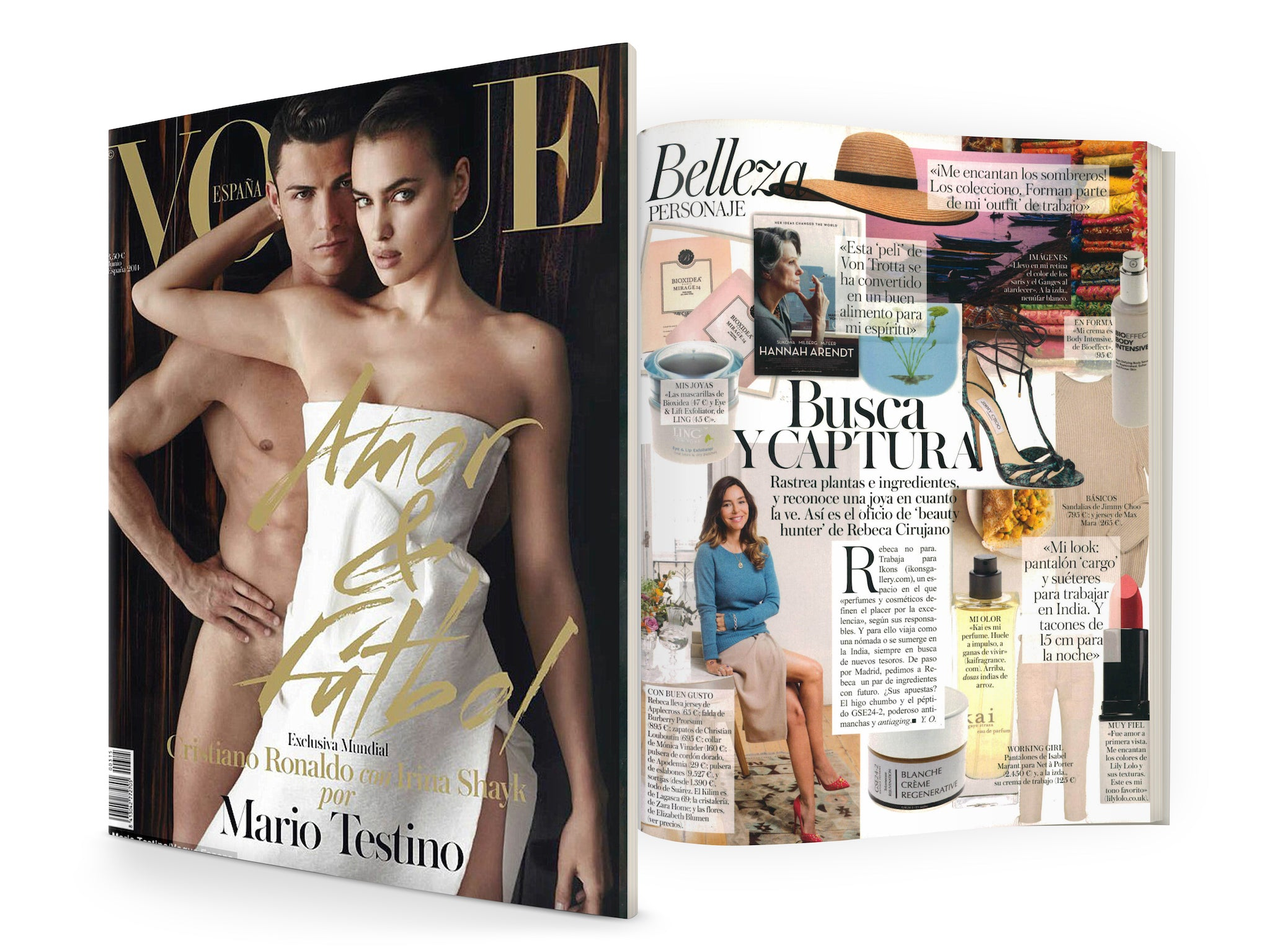 """Ikons Gallery Beauty Hunter, Rebecca Cirujano's favourite"" - BIOXIDEA Mirage24 collection featured in Vogue"