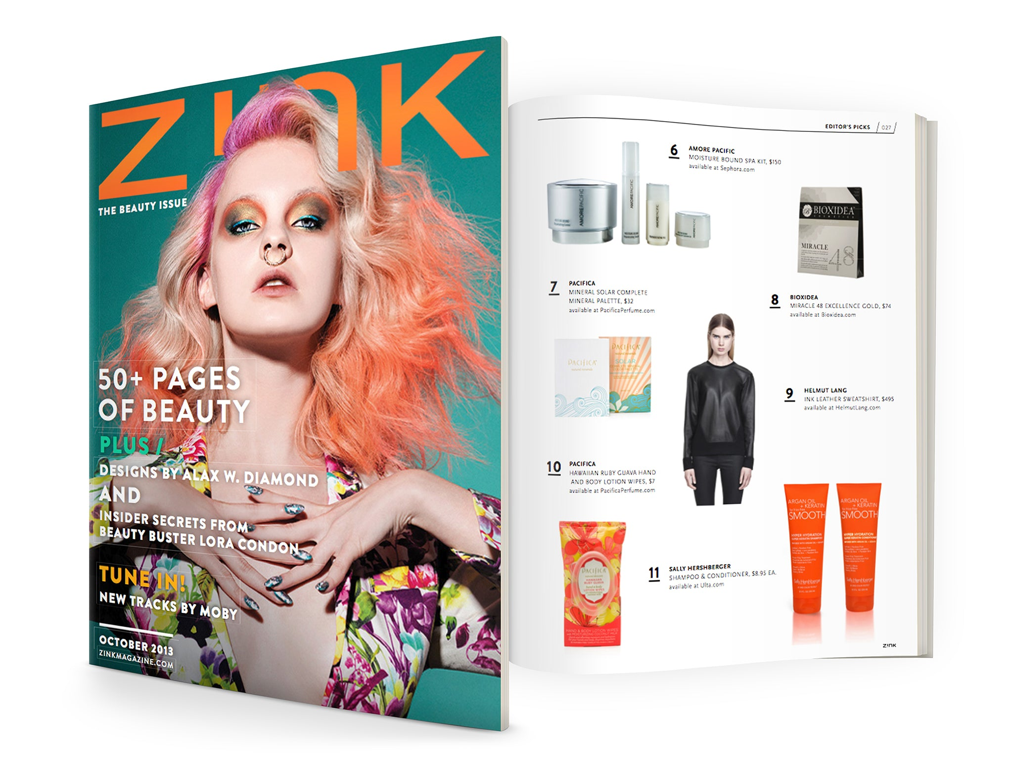 Editor's Pick - BIOXIDEA Miracle48 Excellence Gold Face & Body Lift featured in Zink Magazine