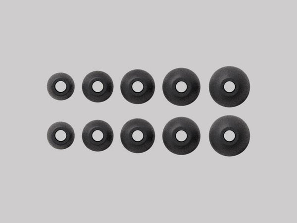 Silicone Ear Tips Black - a-Jays Five